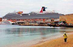 Carnival Vista docked in Rhodes.