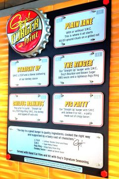Guy's Burger Joint will bring celebrity chef Guy Fieri's recipes to the Carnival Panorama. Photo by David Dickstein