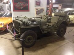 Photo of a Willys Military Jeep from the California Automobile Museum. Photo courtesy of California Automobile Museum.