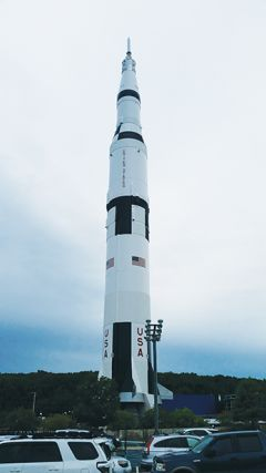 Image of a Saturn V rocket similar to the one that carried the Apollo 11 space capsule to the Moon. Photo by Sal Arrigo, Jr.