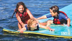 Opportunities to get wet abound during kids' Aquatic Center camps.