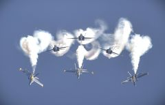 Airshow action takes to the skies next Saturday and Sunday. In addition to the U.S. Navy Blue Angels, the show features an extensive roster of spine-tingling acts. Photo courtesy CCA