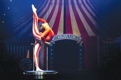 Circus Vargas presents the human figure in its most graceful and subtle moments. Courtesy Circus Vargas/Wednesday Aja