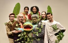 Broadway's wildly popular sci-fi musical, Little Shop of Horrors, is the American River College Theatre feature presentation. Back Row, left to right: Regine Ford, Samaria Sylvester, Sarah Gonzalez