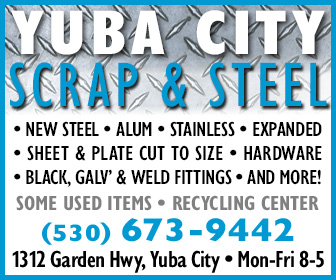 Yuba City Scrap and Steel Ad