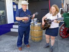 Bluegrass music was provided by Pleasant Valley Boys. Photo by Debra Dingman